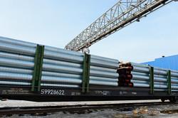 Поставка труб в ППУ-изоляции для теплоизолированных нефтепроводов железнодорожным транспортом
