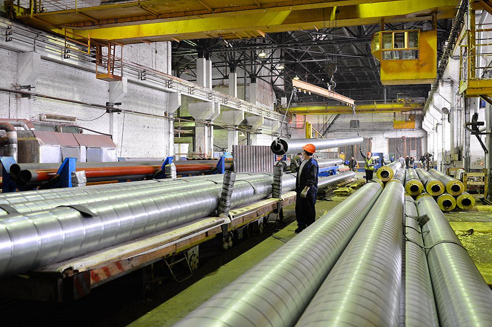Завод ТВЭЛ-Тобольск. Производство труб в пенополиуретановой изоляции для нефтепроводов