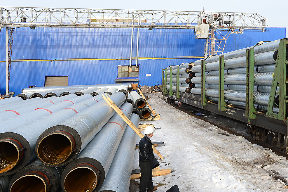 Завод ТВЭЛ-Тобольск. Поставка труб в ППУ-изоляции железнодорожным транспортом