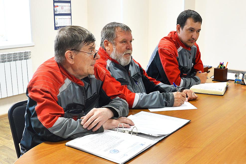 Завод ТВЭЛ-Тобольск.  Ежедневное производственное совещание главных специалистов завода