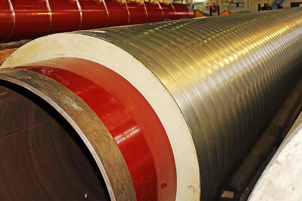 Завод ТВЭЛ-Тобольск. Труба в пенополиуретановой теплоизоляции с антикоррозийным покрытием