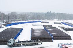 Завод ТВЭЛ-Тобольск. Очередная партия труб под изоляцию