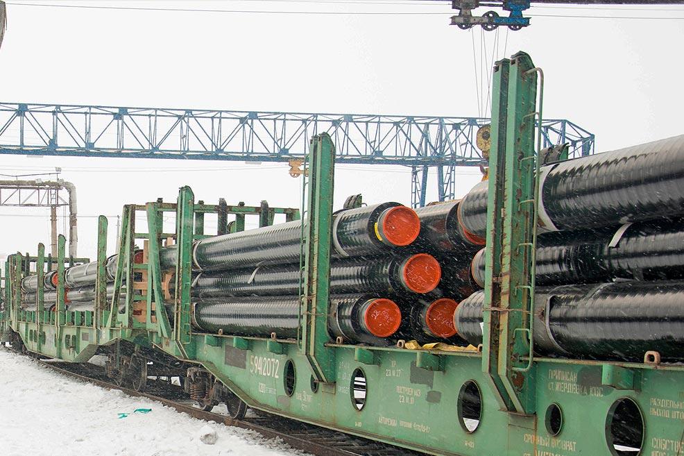 ТВЭЛ-Тобольск. Поставка труб в 3-хслойной изоляции железнодорожным транспортом