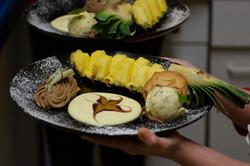 Ananas Schiffchen Dessert
