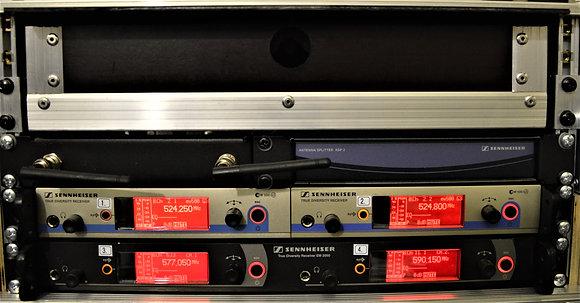 Raadiomikrofon Sennheiser ew500 G3 4channel rack splitteriga (ilma saatjata)