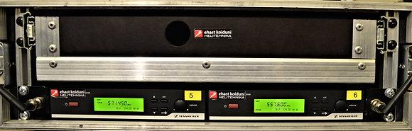 Raadiomikrofon Sennheiser XSW-2 2channel rack (ilma saatjata)