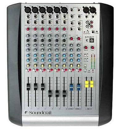 Helipult Soundcraft Spirit E6 6 mono inputs
