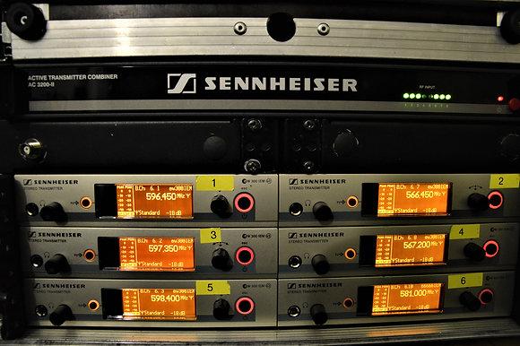 Kõrvamonitor Sennheiser in-ear G3 6channel rack splitteriga (ilma bodypackita)