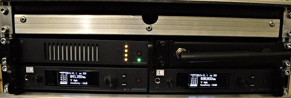 Kõrvamonitor Sennheiser in-ear G4 2 channel rack splitteriga (ilma bodypackita)