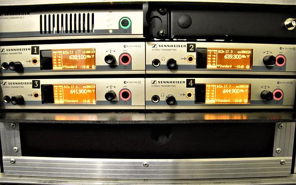 Kõrvamonitor Sennheiser in-ear G3  4 channel rack splitteriga (ilma bodypackita)