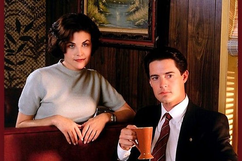 Autographed 8x10 (Audrey and Agent Cooper)