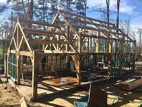 Maison 100% ossature chêne en constructi