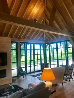 Annexe en bois, structure en chêne