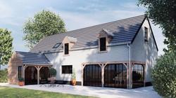 projet de maison structure en chêne