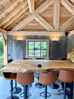 poolhouse vaulted ceiling