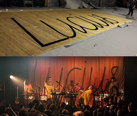 String Backdrop for Lucius Tour