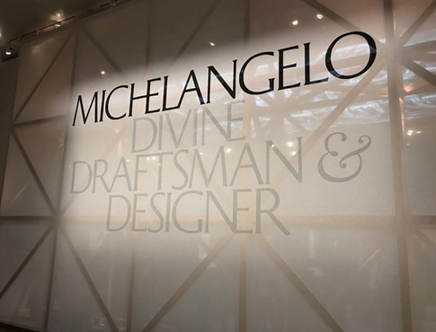 Title Wall on Sheer Cotton Gauze for Michelangelo Exhibit at the Met Museum