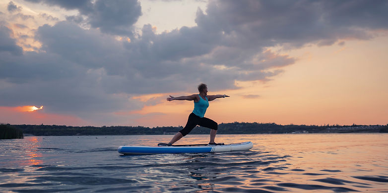 SUP Yoga Warrior