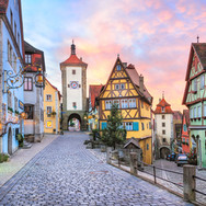 Houses in Tauber Germany