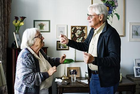 Ouder echtpaar samen