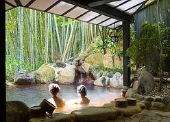 Piscina de spa de bambu