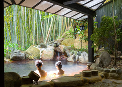Piscine Spa Bambou