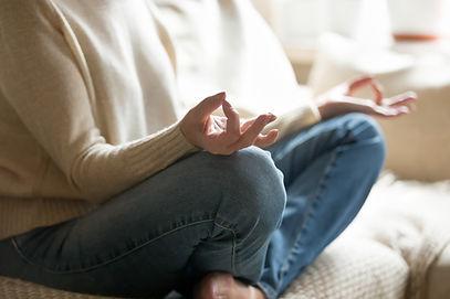 Gesto de mão de meditação
