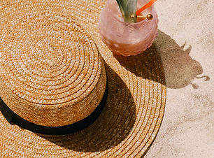 Straw Hat and Cocktail