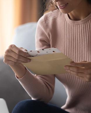 Einen Brief erhalten