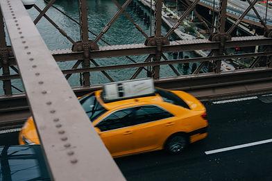 Taxi in Bewegung