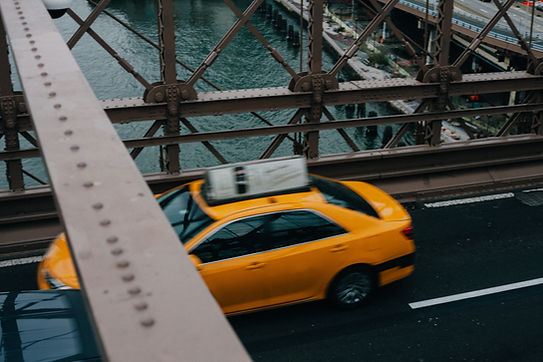 Taxi en movimiento