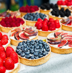 Patisserie fruit tarts Crème pâtissière Envie Catering. Order from Lizzie in Link
