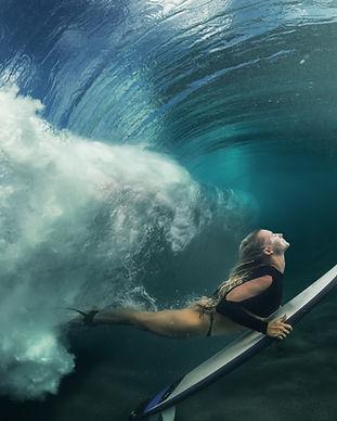 Swimming Surfer