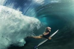 Mergulho de surfista