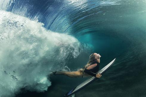 Surfeur de natation