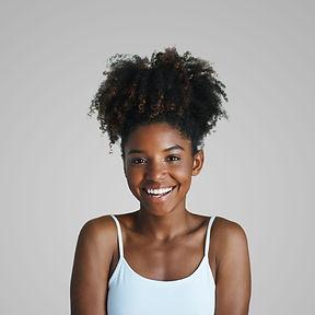 Mujer joven sonriente