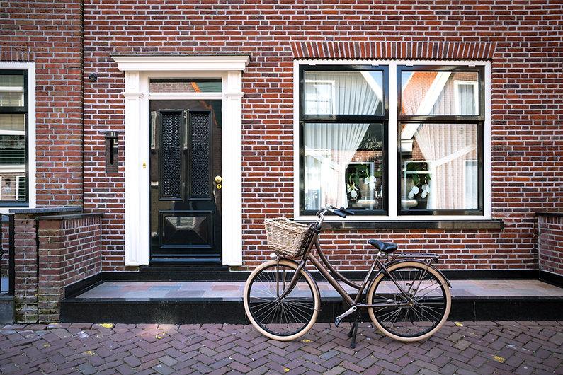 Brick Home with Bike