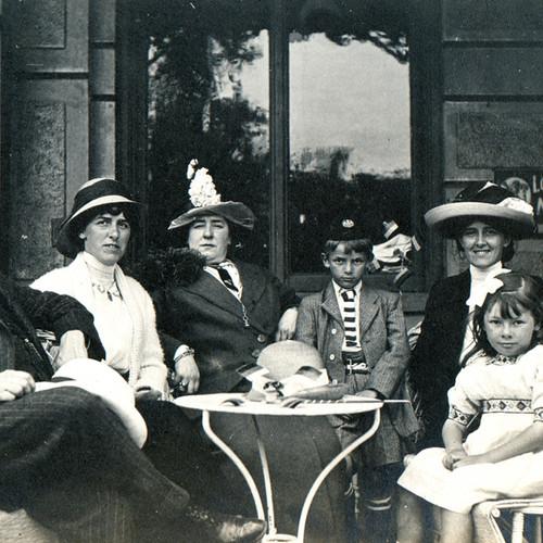 Retrato de la familia de la vendimia