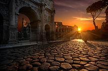 Rua de pedra em Roma