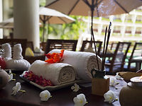 Towels and Incense Sticks