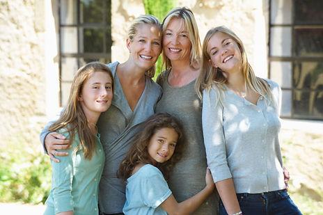 Membros da família do sexo feminino
