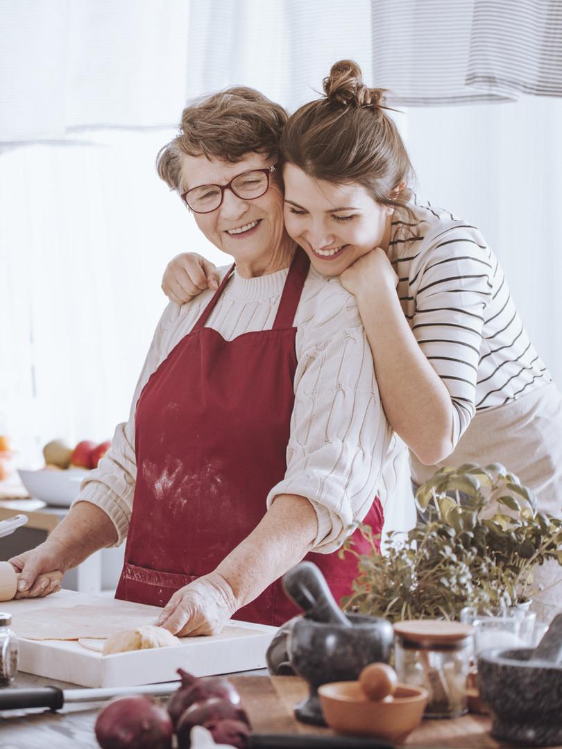 Cuisiner avec grand-mère