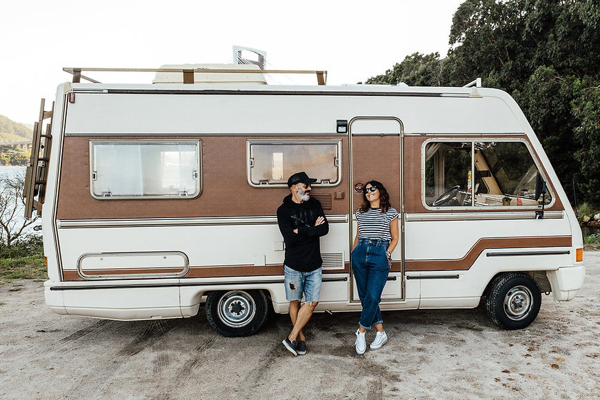 Couple with Campervan