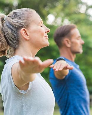 Outdoors Yoga Class