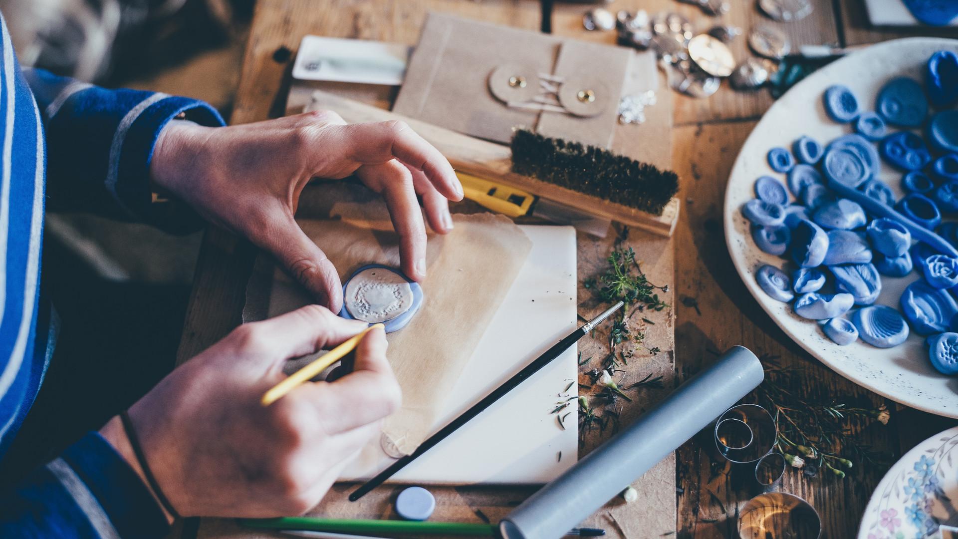 Ręcznie robione muszle