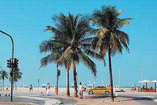 Rua pela praia