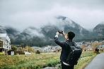 旅先での写真撮影
