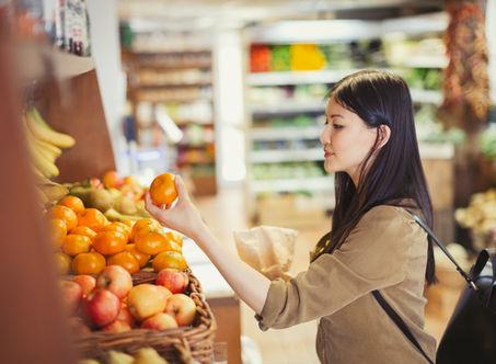 Mindful shopping, mindful eating