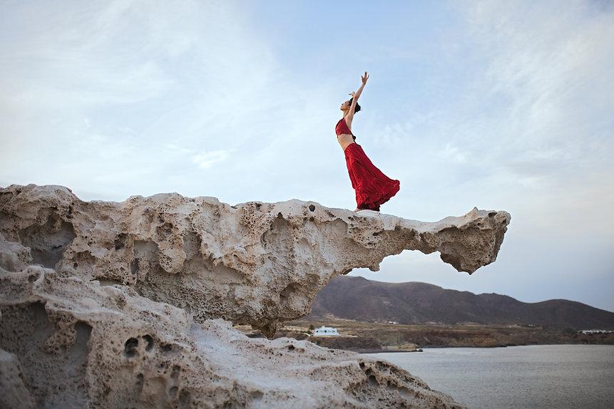 Dancer on a cliff