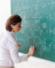 数学の授業中に女教師